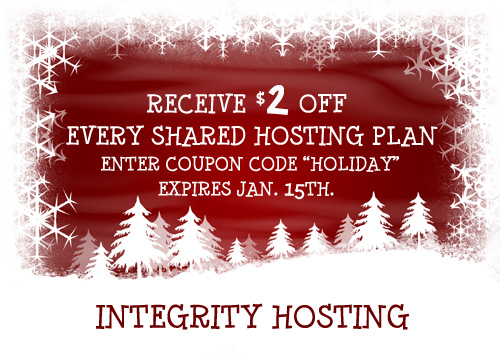 Integrity Hosting Holiday Sale